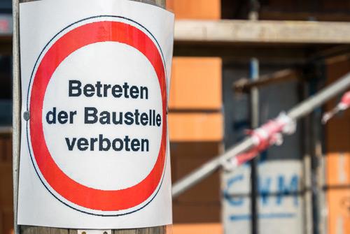 Betreten verboten Baustelle